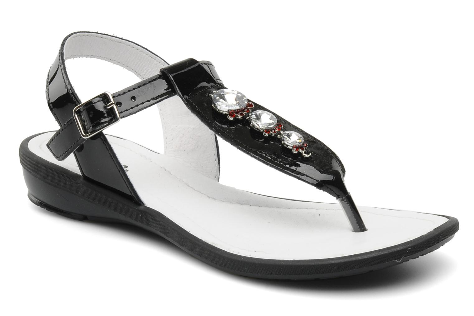 Sandals Ramdam by GBB Felicia Black detailed view/ Pair view