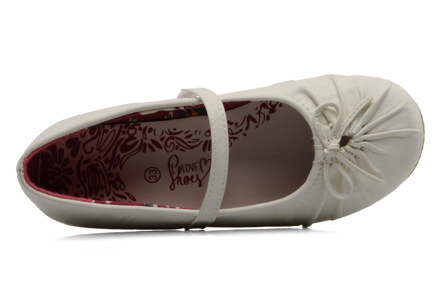 Ballerina's I Love Shoes Perla Wit links