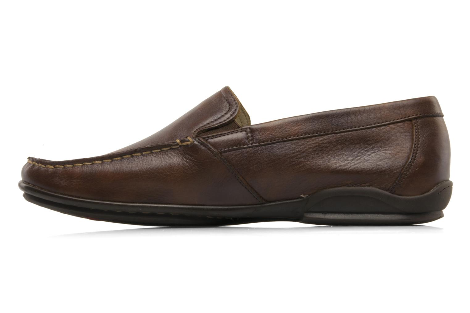 Loafers Fluchos Baltico 7149 Brown front view
