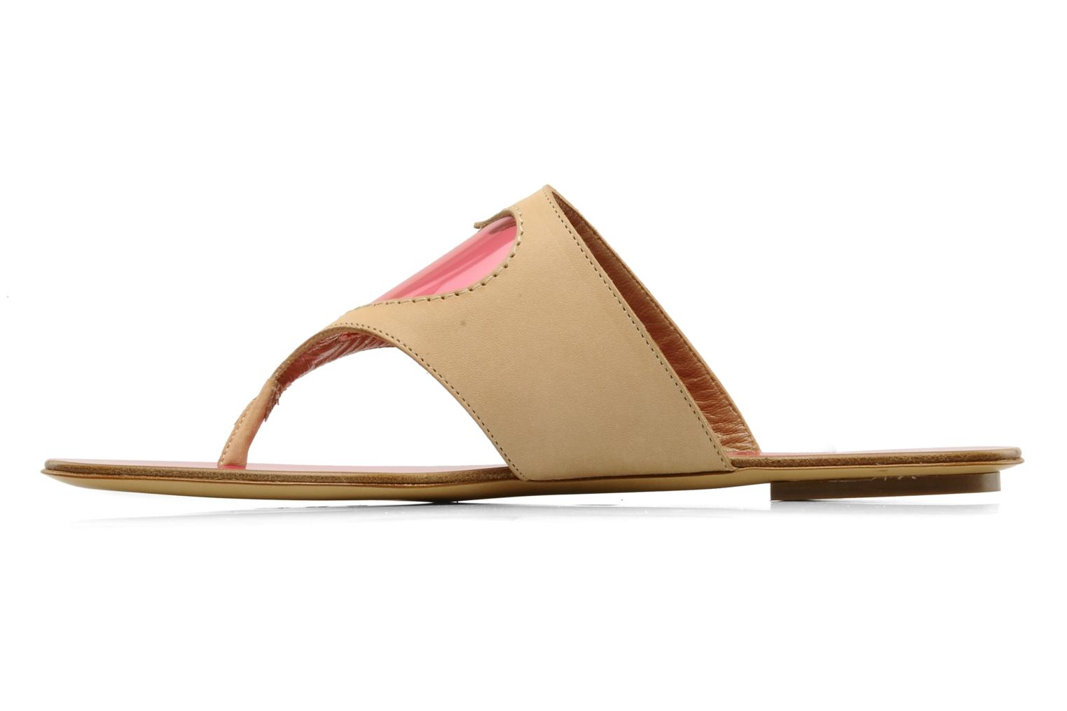 Tongs Moschino Cheap & Chic Celaste Beige vue face