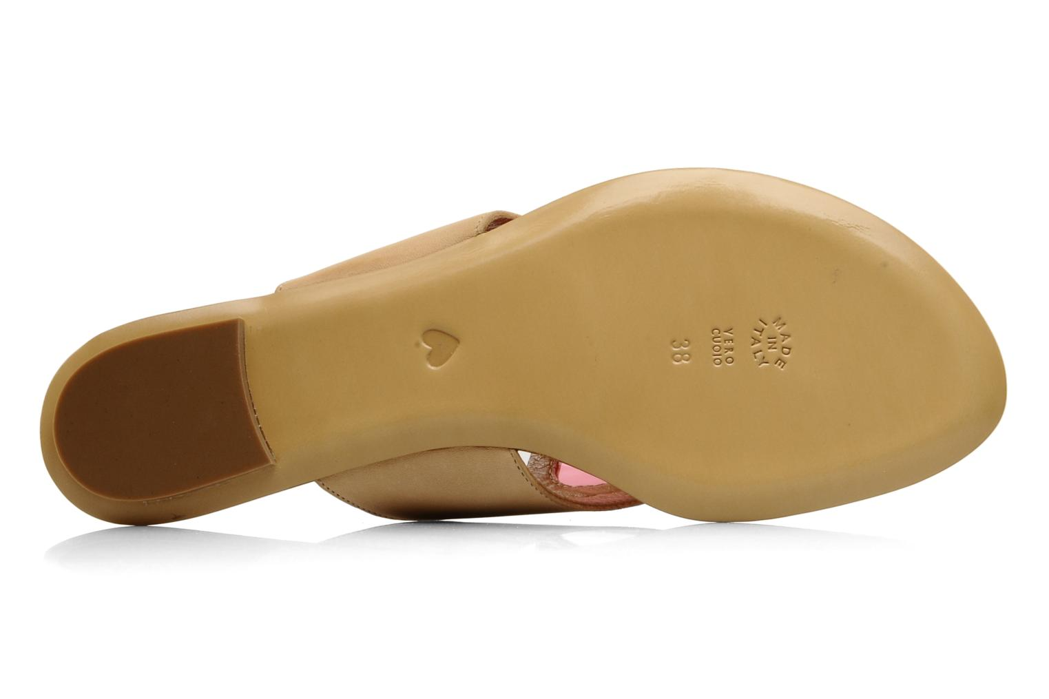 Flip flops Moschino Cheap & Chic Celaste Beige view from above