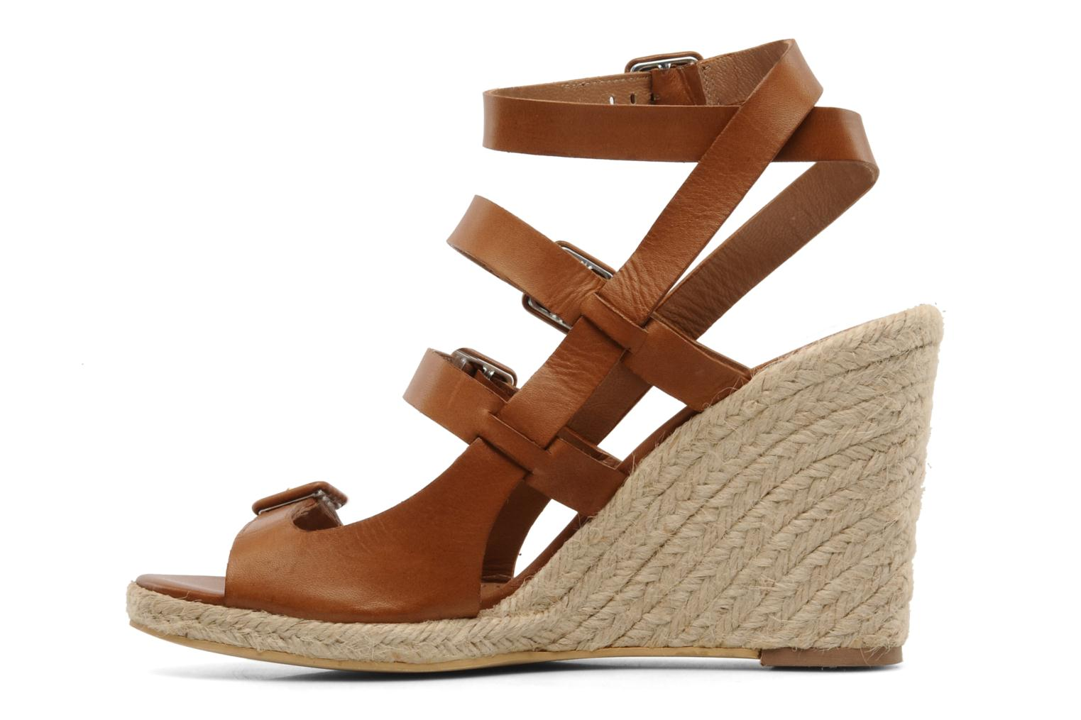 Sandals Moschino Cheap & Chic Cevil Brown front view