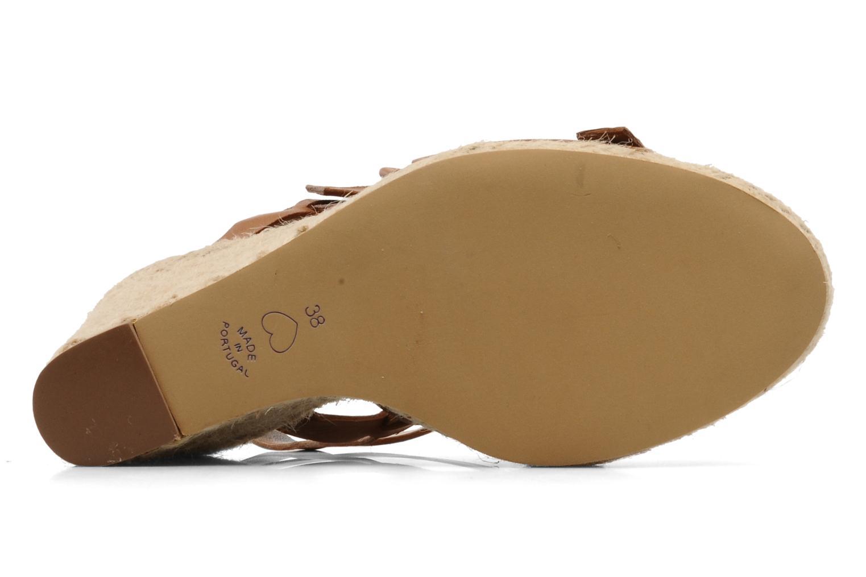 Sandales et nu-pieds Moschino Cheap & Chic Cevil Marron vue haut