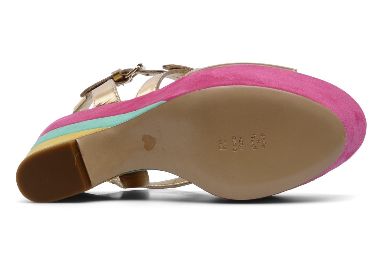 Sandalias Moschino Cheap & Chic Cepale Multicolor vista de arriba