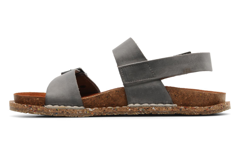 Sandales et nu-pieds Art Frankfurt 130 Gris vue face