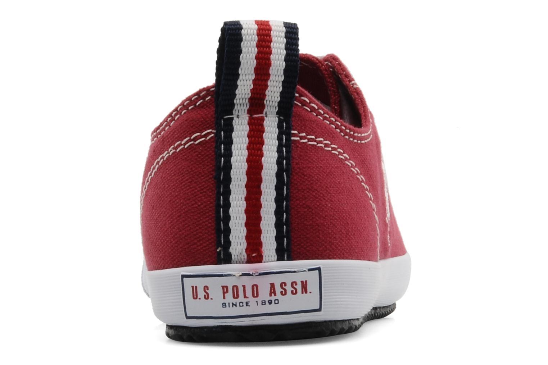 Baskets U.S Polo Assn. Boris Rouge vue droite