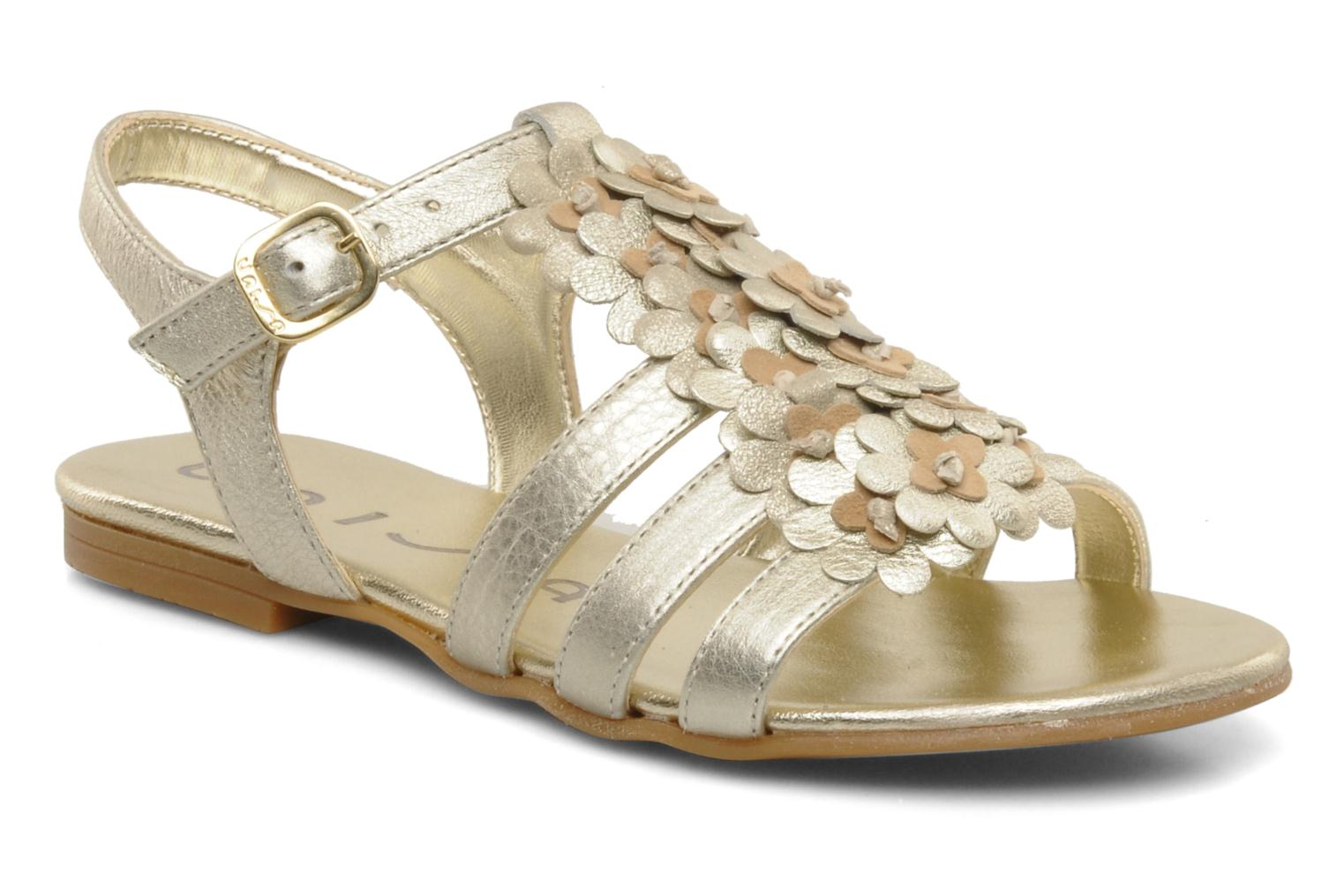 Sandals Unisa Lizzi Bronze and Gold detailed view/ Pair view