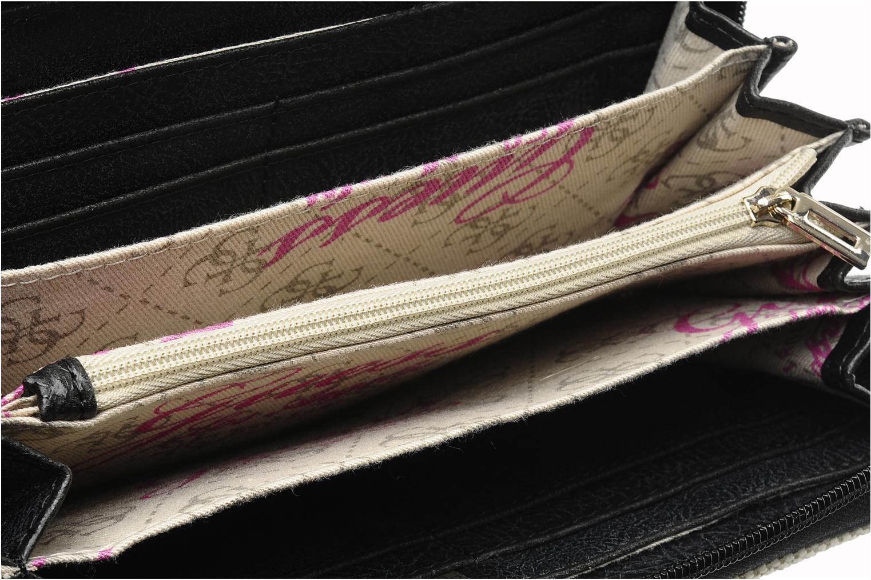 Portemonnaies & Clutches Guess Shanie Large ZipAround schwarz ansicht von hinten