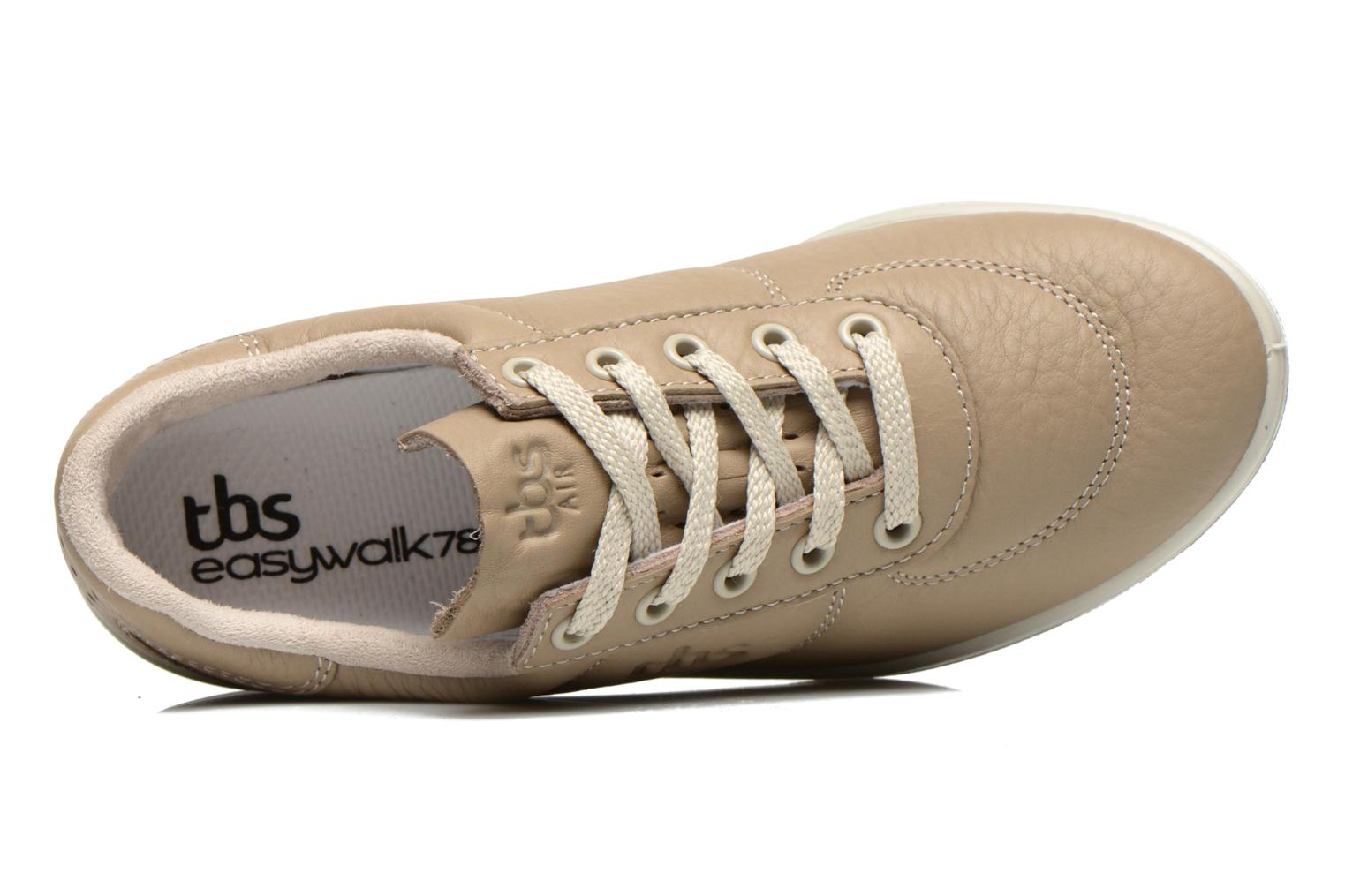 Trainers TBS Easy Walk Brandy Beige view from the left
