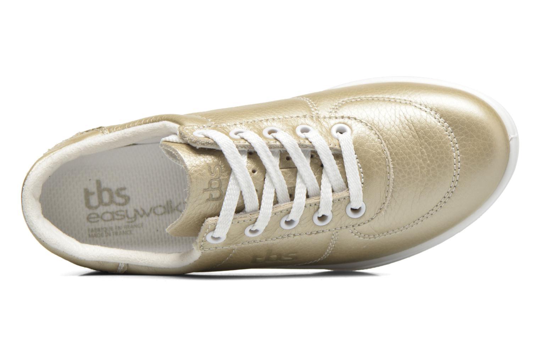 Deportivas TBS Easy Walk Brandy Oro y bronce vista lateral izquierda