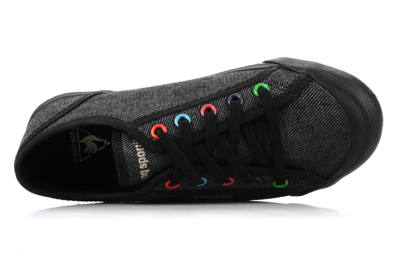 Sneakers Le Coq Sportif Deauville Plus Denim Rainbow Ps Nero immagine sinistra