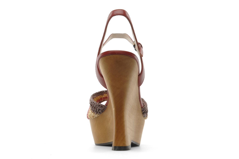 Sandales et nu-pieds L.K. Bennett MAC Multicolore vue droite