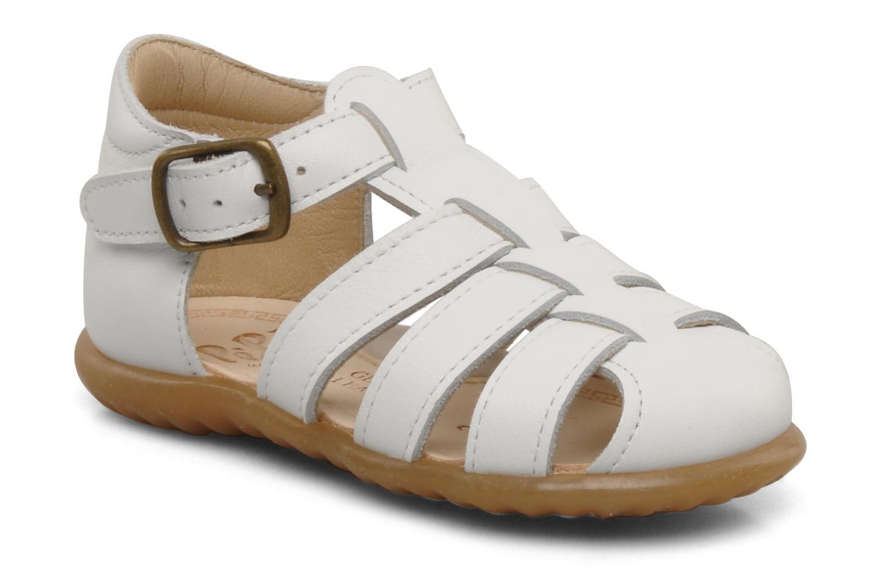 Sandales et nu-pieds PèPè Bongo Blanc vue détail/paire
