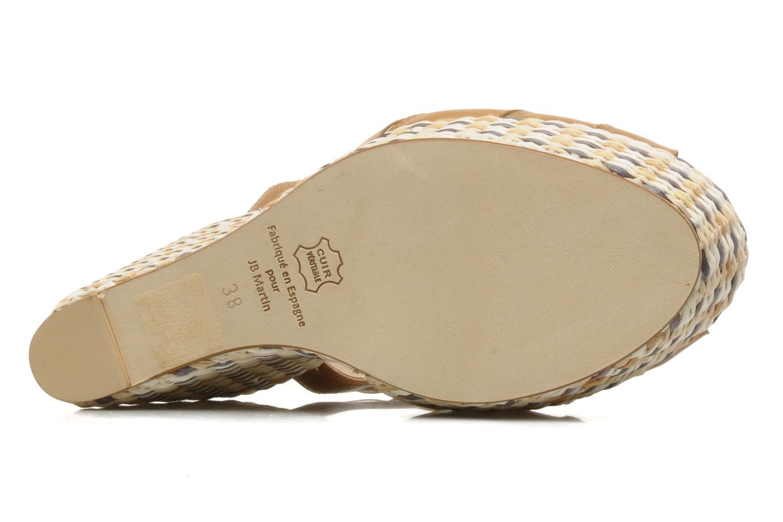 Sandales et nu-pieds JB MARTIN Inite Marron vue haut