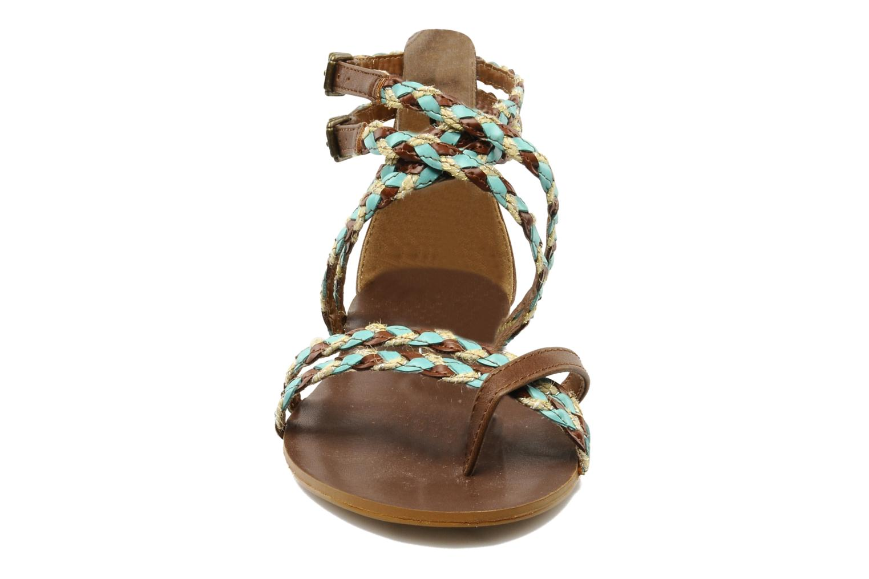 Sandals Chocolate Schubar Aja Brown model view