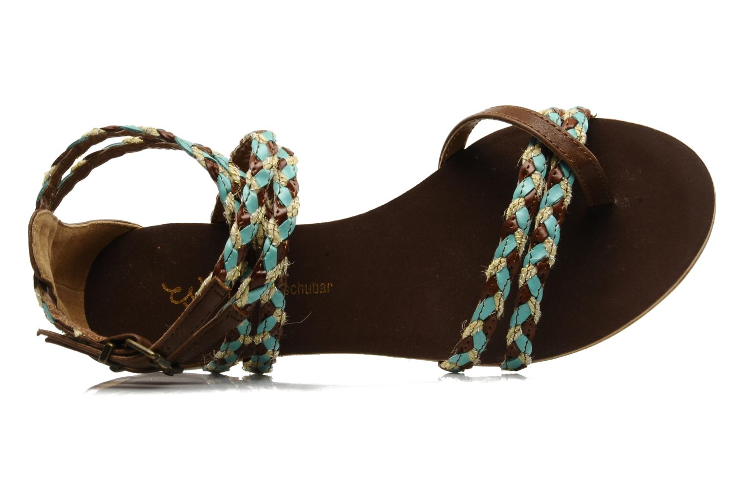 Sandals Chocolate Schubar Aja Brown view from the left