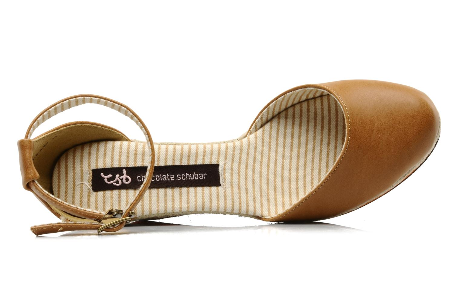 Espadrilles Chocolate Schubar Charmaine Bruin links