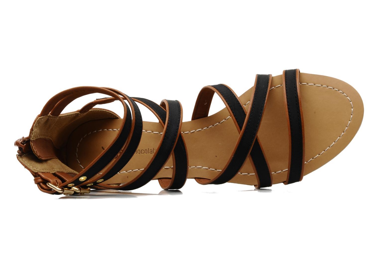 Sandalen Chocolate Schubar Andi schwarz ansicht von links