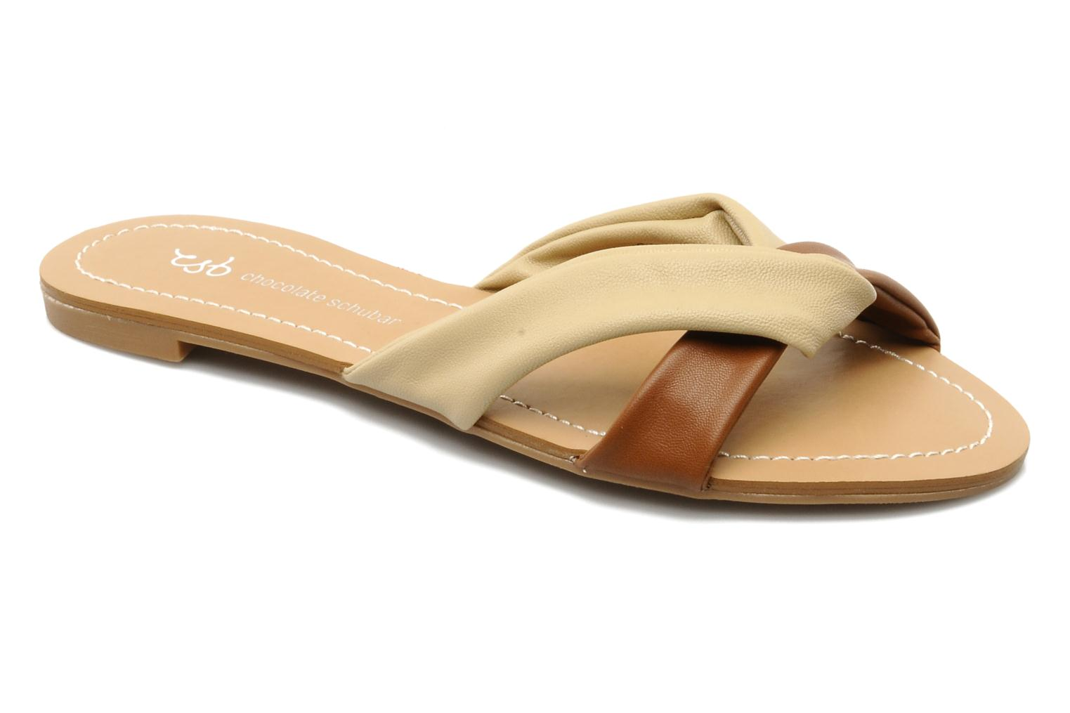 Mules & clogs Chocolate Schubar Abby Beige detailed view/ Pair view