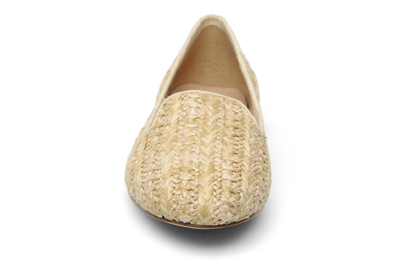Mocassins Chocolate Schubar Chiara Beige vue portées chaussures