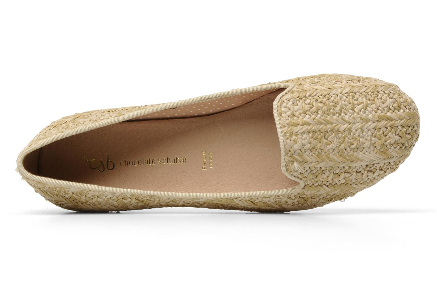 Loafers Chocolate Schubar Chiara Beige view from the left