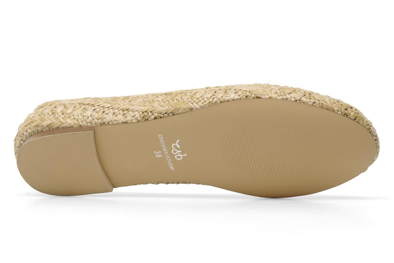 Loafers Chocolate Schubar Chiara Beige view from above