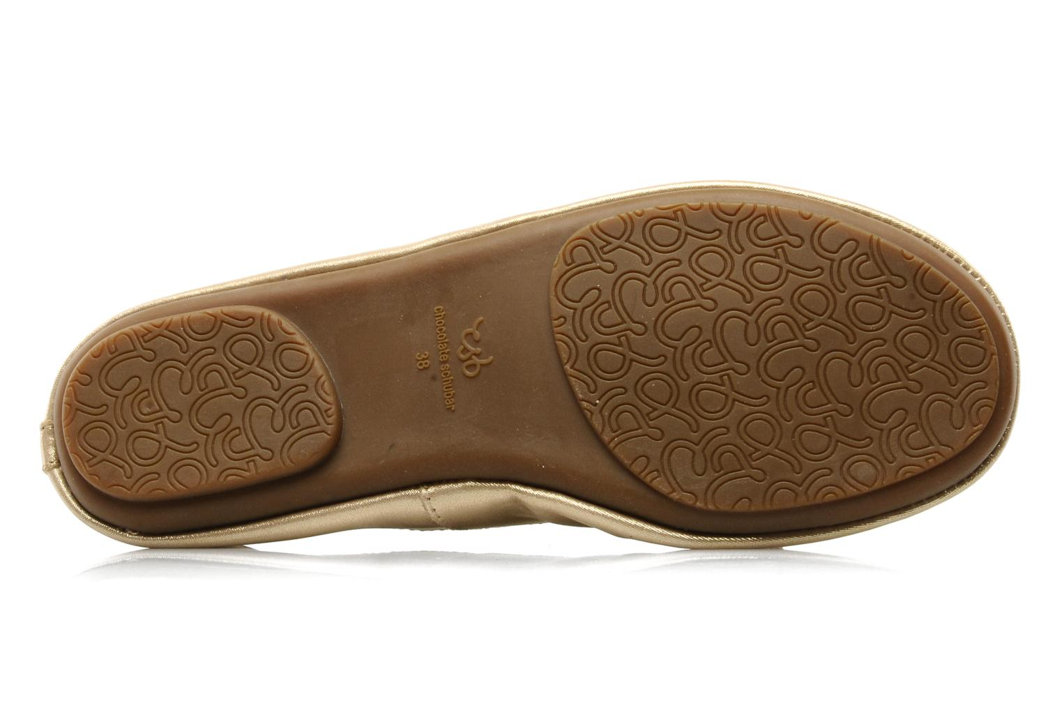 Ballet pumps Chocolate Schubar Daniel Bronze and Gold view from above