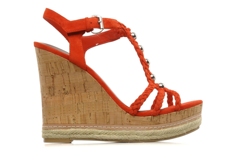Sandales et nu-pieds Guess Reign Orange vue derrière