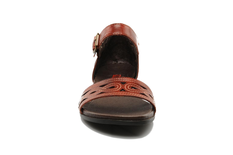 Sandales et nu-pieds Pikolinos Alcudia 8886 Bordeaux vue portées chaussures
