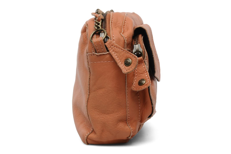 Sacs pochettes Pieces Naina Leather Crossover Orange vue droite