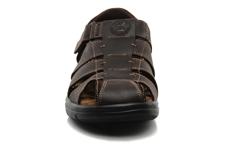 Sandales et nu-pieds Panama Jack Sherpa Marron vue portées chaussures