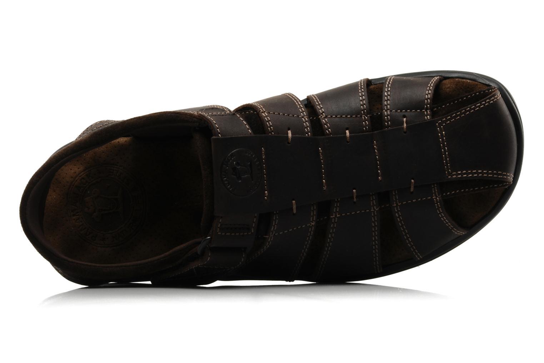 Sandales et nu-pieds Panama Jack Sherpa Marron vue gauche