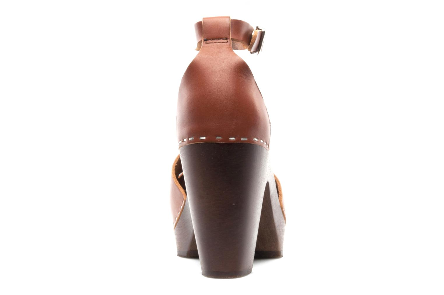 Mules & clogs Swedish Hasbeens T Bar Sandal Brown view from the right