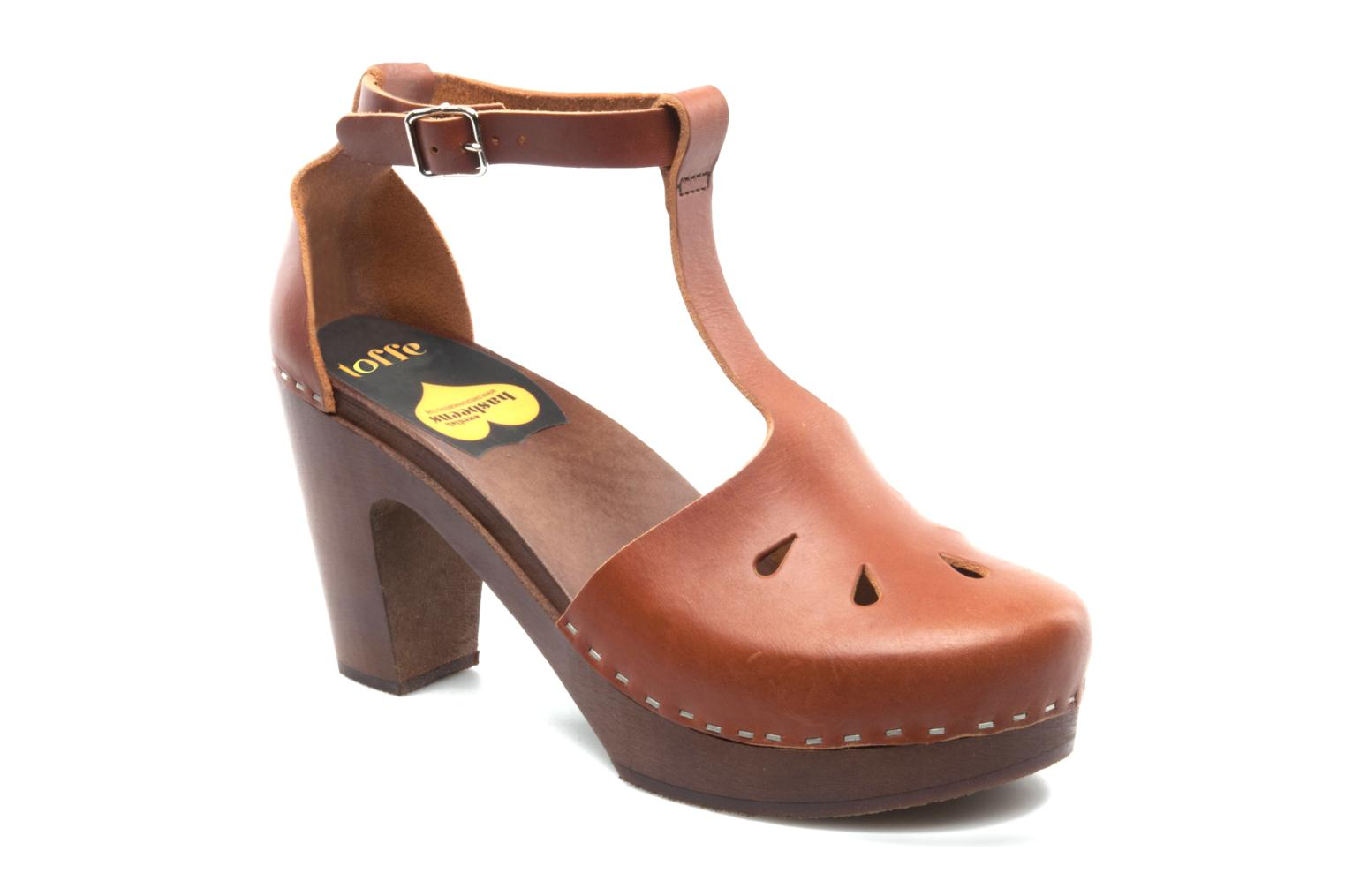 Mules & clogs Swedish Hasbeens T Bar Sandal Brown detailed view/ Pair view