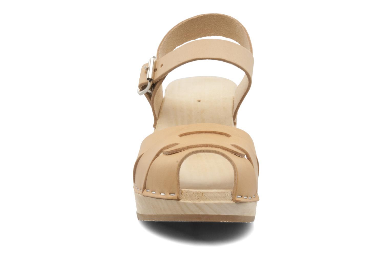 Sandales et nu-pieds Swedish Hasbeens Peep Toe High Colours Beige vue portées chaussures