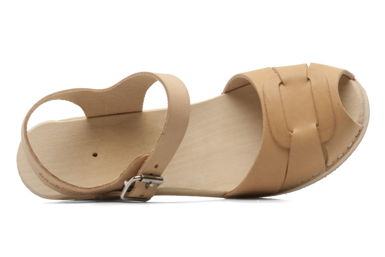 Sandales et nu-pieds Swedish Hasbeens Peep Toe High Colours Beige vue gauche