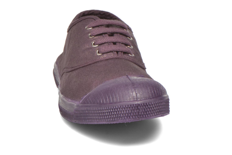 Sneakers Bensimon Tennis Colorsole Viola modello indossato