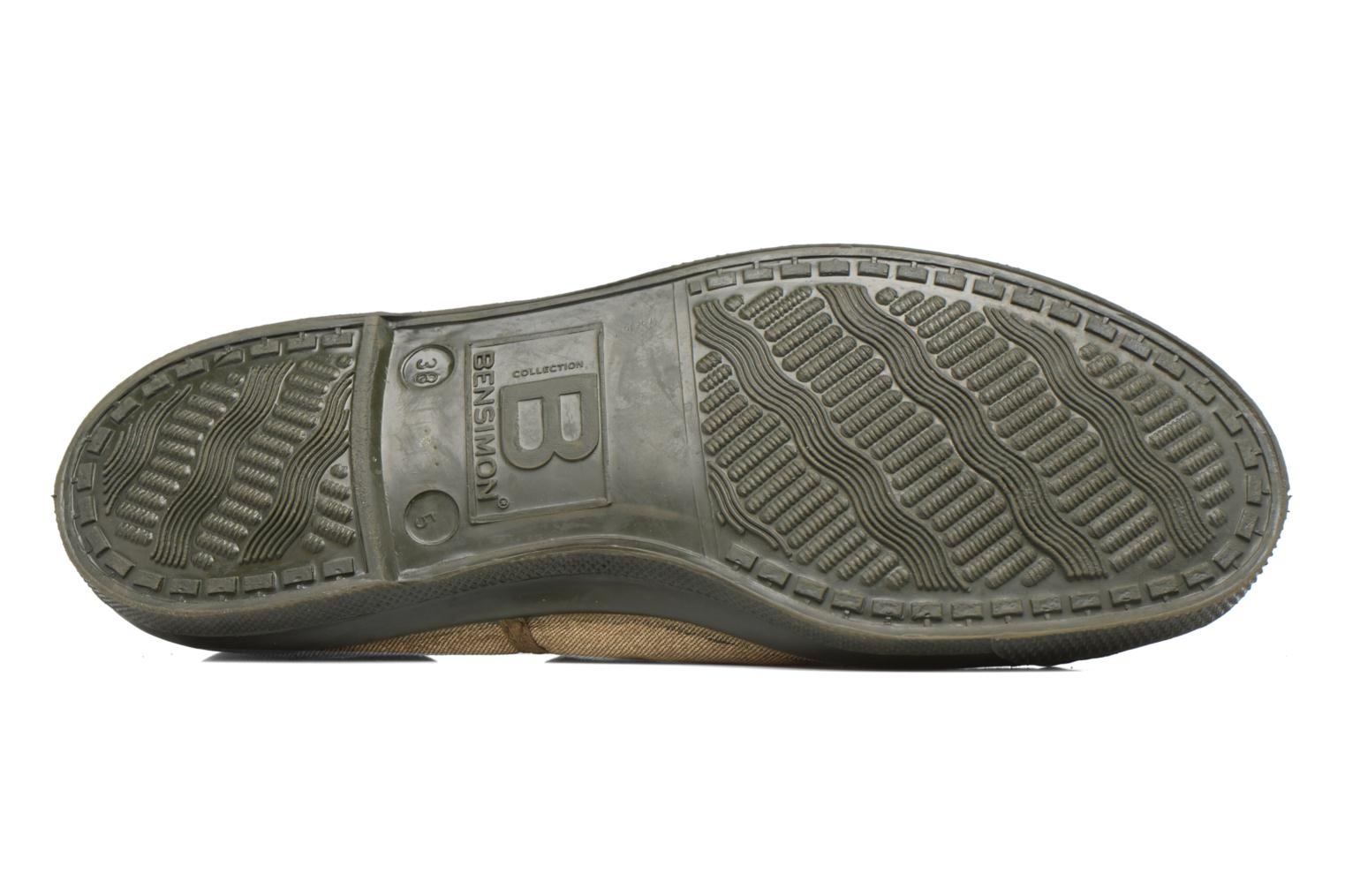 Baskets Bensimon Tennis Colorsole Vert vue haut