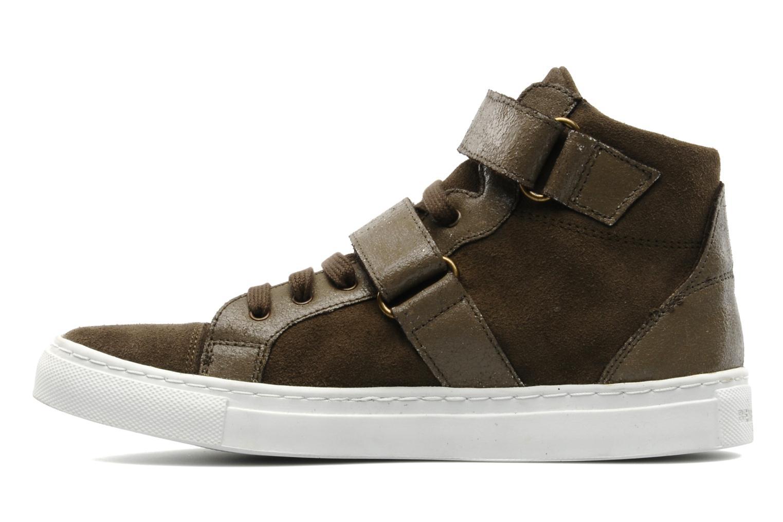 Sneakers Bensimon Sneakys Suède Grigio immagine frontale