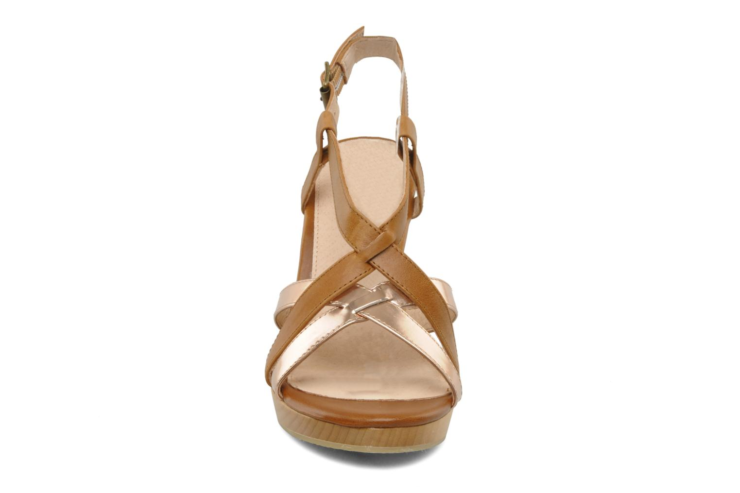 Sandals Mellow Yellow Lebon Brown model view