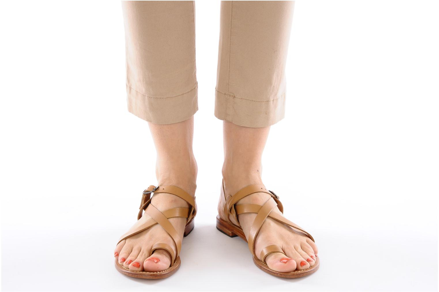 Sandals Mellow Yellow Lemporio Brown view from underneath / model view