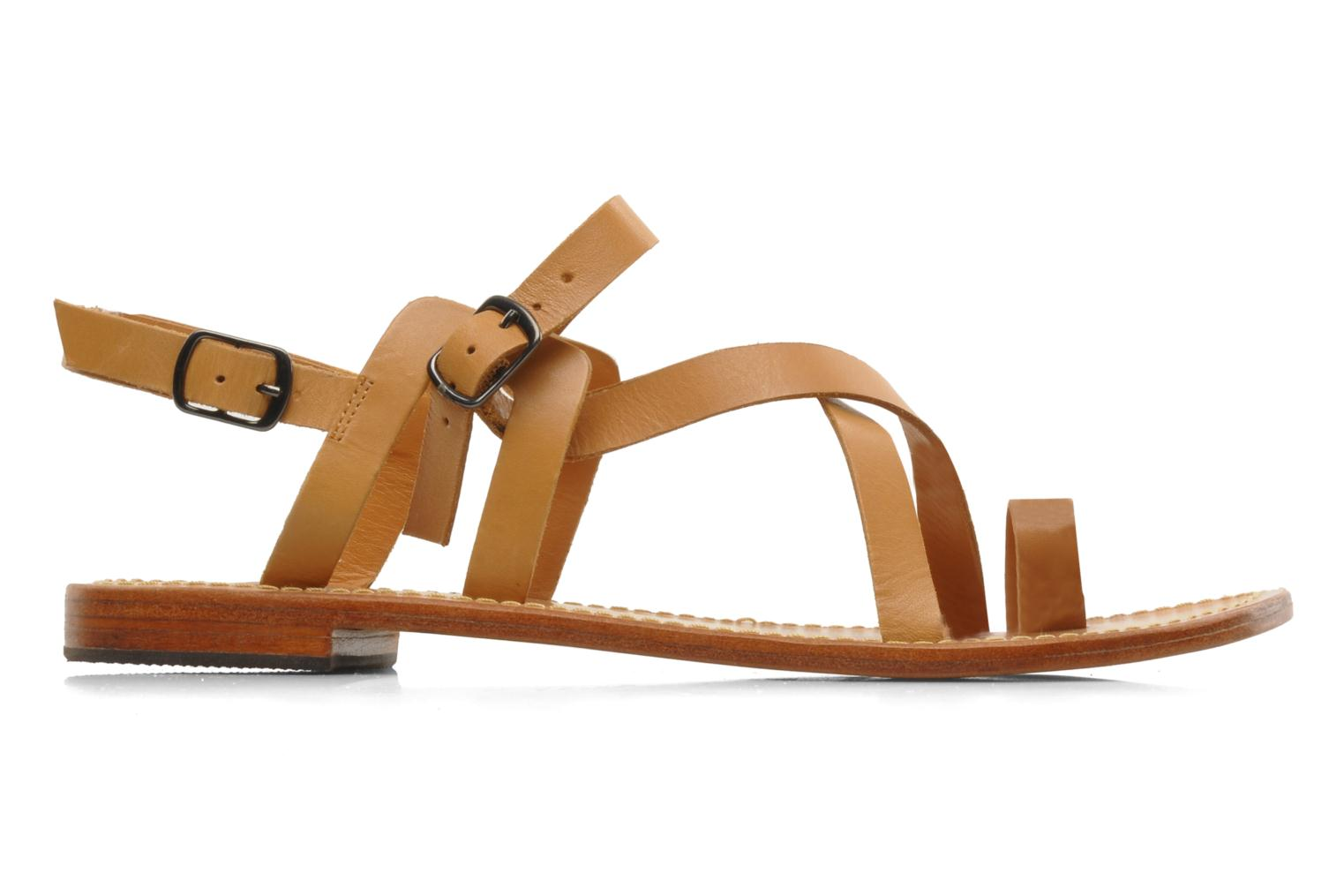 Sandals Mellow Yellow Lemporio Brown back view