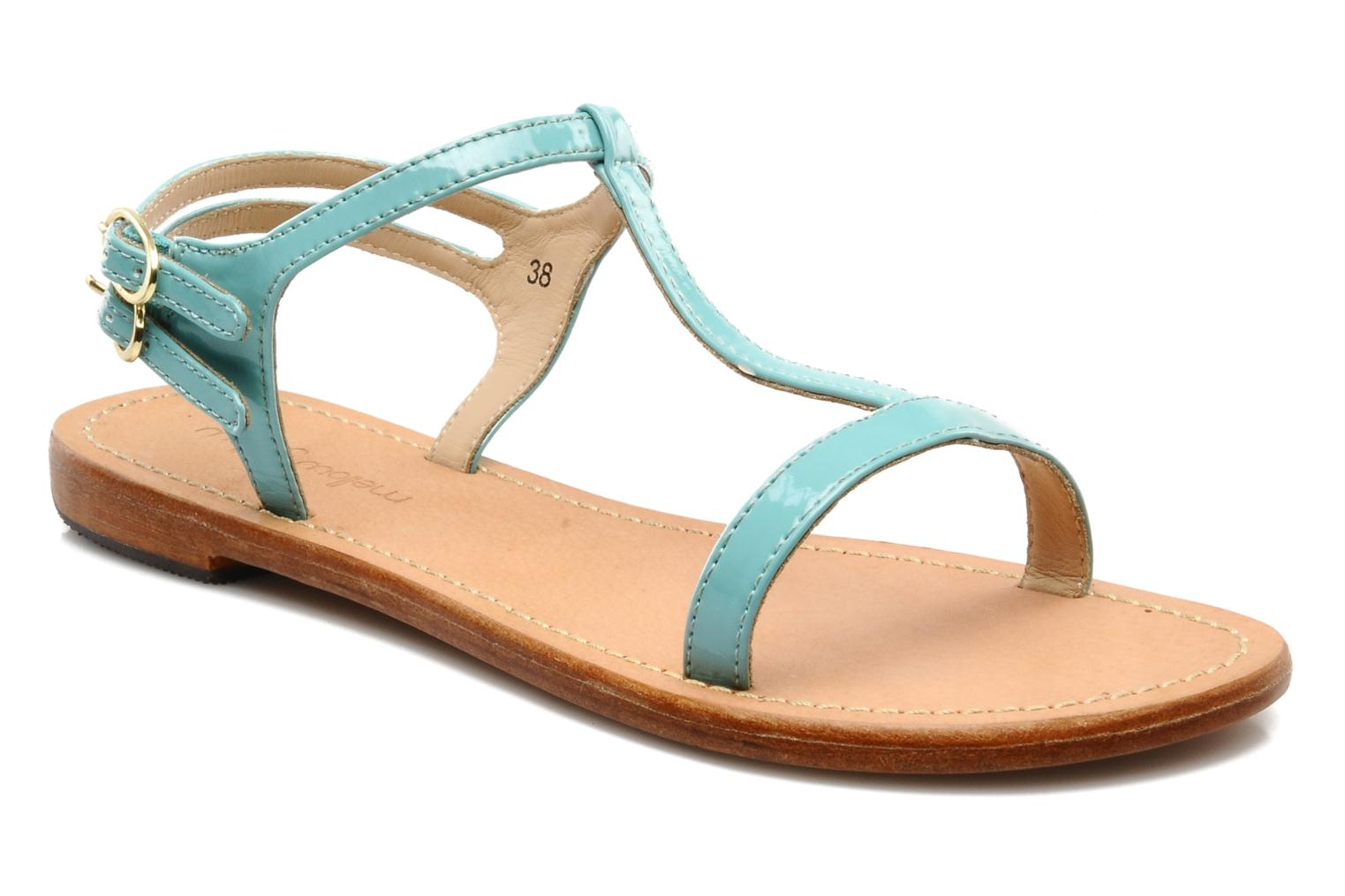 Sandals Mellow Yellow Link Blue detailed view/ Pair view