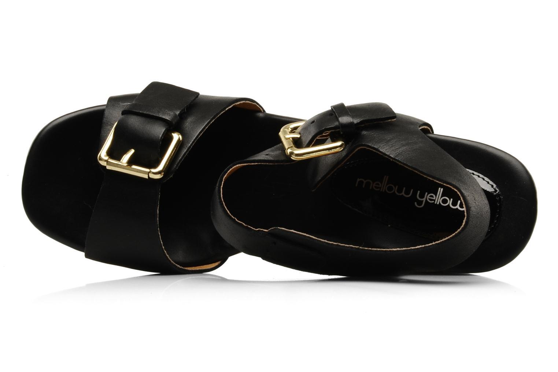Sandales et nu-pieds Mellow Yellow Lupper Noir vue gauche