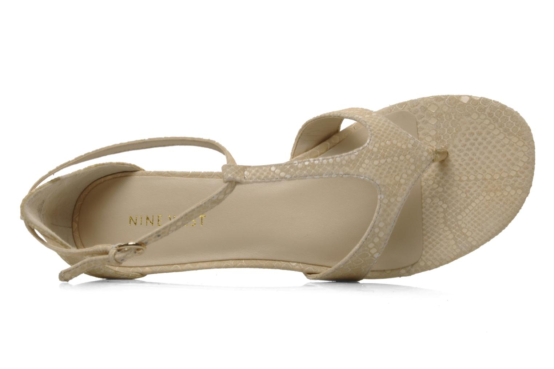 Sandales et nu-pieds Nine West Couldbeluv Beige vue gauche