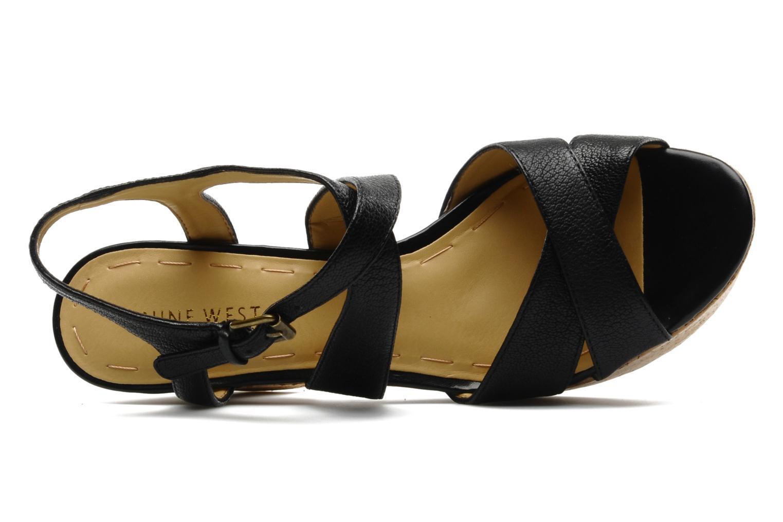 Sandales et nu-pieds Nine West Guessagain Noir vue gauche