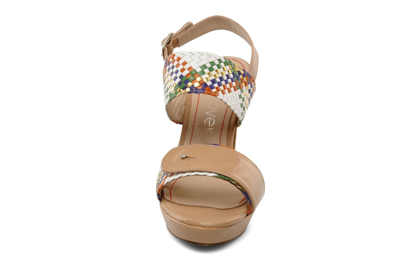 Sandalen Jancovek Marceau mehrfarbig schuhe getragen