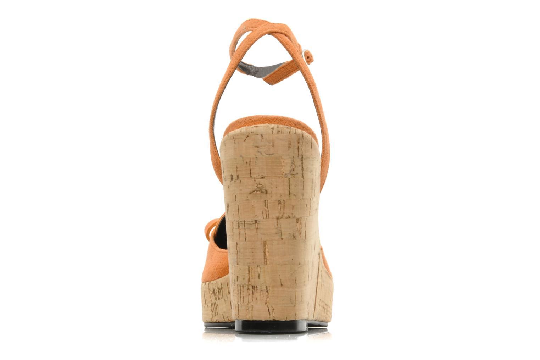 Sandales et nu-pieds Sebago & Gaspard Yurkievich Ydriss Orange vue droite