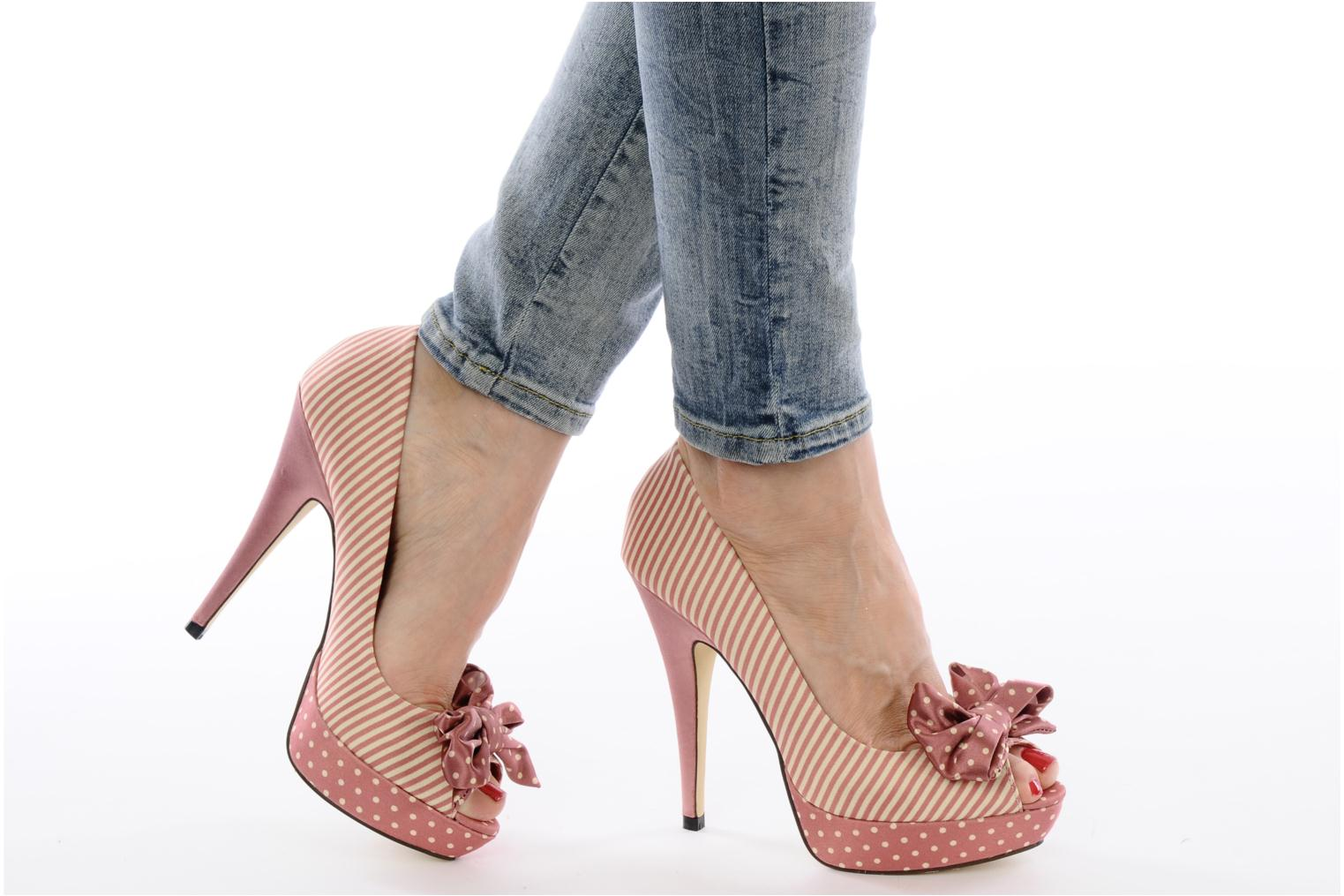 High heels Menbur Pisum Ot Pink view from underneath / model view
