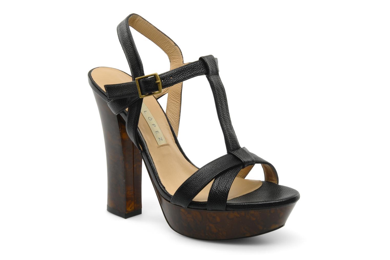 Sandales et nu-pieds Pura Lopez Storia Noir vue détail/paire